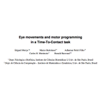 Eye Movements and Motor Programming in a Time-To-Contact Task